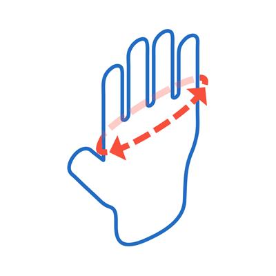 راهنمای سایز دستکش جراحی هلثیوم