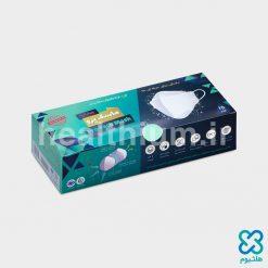 ماسک سه بعدی ۳D پرو سفید و سبز دوازده رو هشت