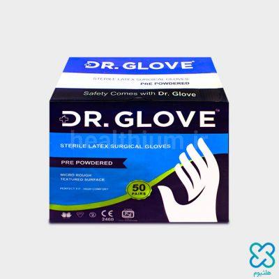 دستکش جراحی لاتکس استریل سایز  7.5 پودردار Dr. Glove