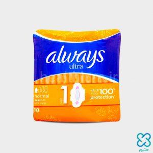 نوار بهداشتی آلویز (Always) اولترا (مخصوص روز) سایز متوسط 10 عددی