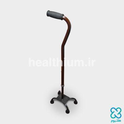 عصا چهارپایه برنزی موژان طب