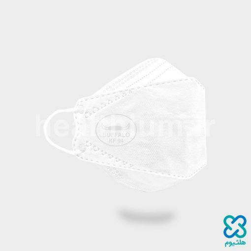 ماسک سه بعدی (سه تکه) 3D سفید KF94 بوفالو