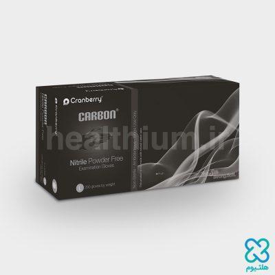 دستکش نیتریل سایز Medium مشکی Cranberry Carbon