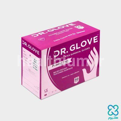 دستکش جراحی لاتکس استریل سایز 8 بدون پودر DR. GLOVE