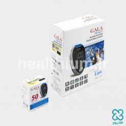 دستگاه تست قند خون + بسته ۵۰ عددی نوار تست گالا (GALA) مدل TD-4277