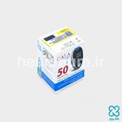 دستگاه تست قند خون + بسته ۵۰ عددی نوار تست گالا (GALA)