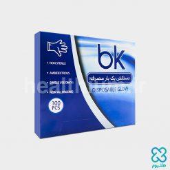 دستکش نایلونی یکبار مصرف جعبهای جانسو (bk)