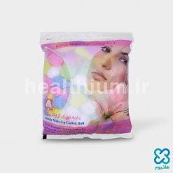 پنبه توپک آرایشی گل رنگی ۵۰ گرمی کاوه