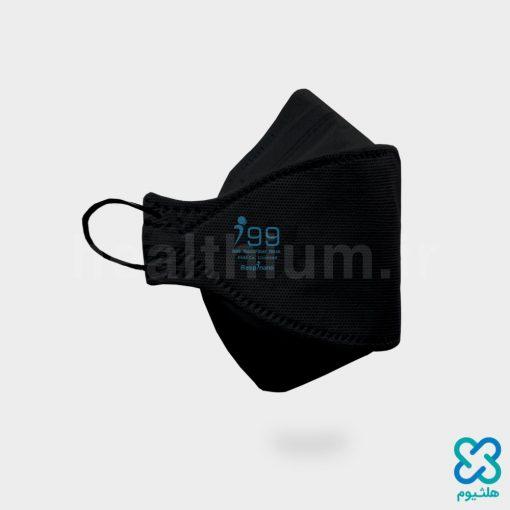 ماسک سه بعدی کودک مشکی N99 نانو الیاف ریما رسپی نانو