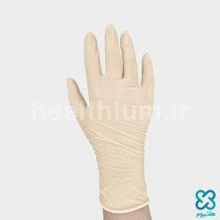 دستکش لاتکس بدون پودر سایز Smallرزمریم (Haritex)