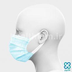 ماسک سه لایه جراحی با کش پهن آبی
