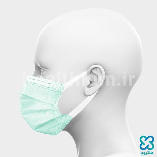 ماسک سه لایه جراحی با کش پهن سبز
