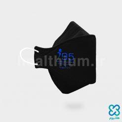 ماسک سه بعدی بزرگسال مشکی N95 نانو الیاف ریما رسپی نانو